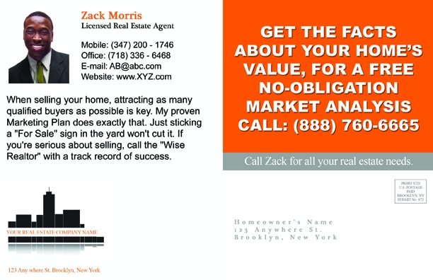 Any Agent Who Can Send A Card Thatu0027s This Clever And This Catchy Is The One I  Want Marketing My Home. Now Thatu0027s A Real Estate Postcard That Is Sure To  Turn ...