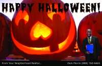 Halloween Postcards for Realtors, realtor postcards, real estate postcards, post cards, marketing.