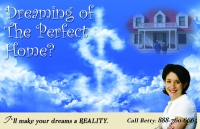 Dreaming of the perfect home real estate postcard marketing.